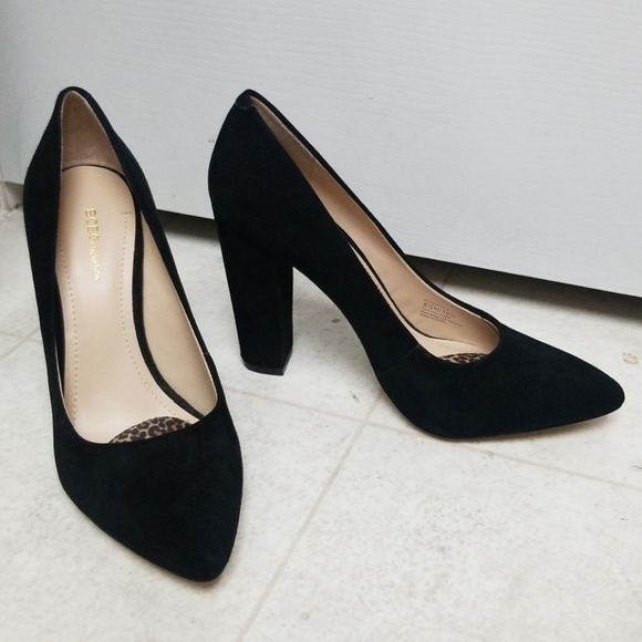 6ff700b07ba BCBG Shoes - BCBG black suede leather pointy toe pumps clarice